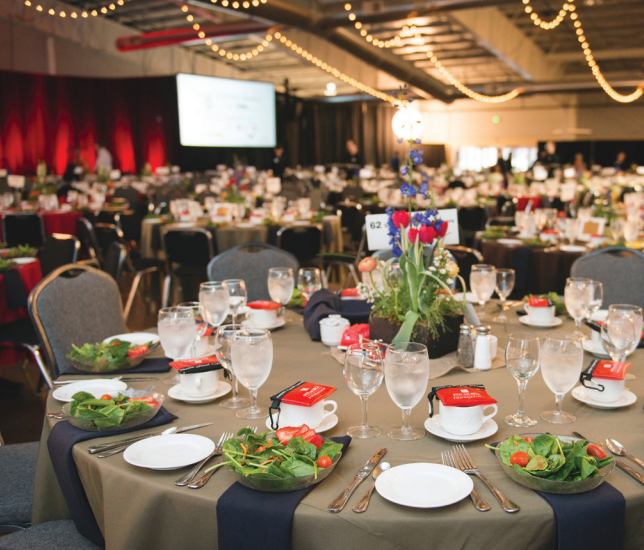 Can accommodate up to 800 guests banquet-style