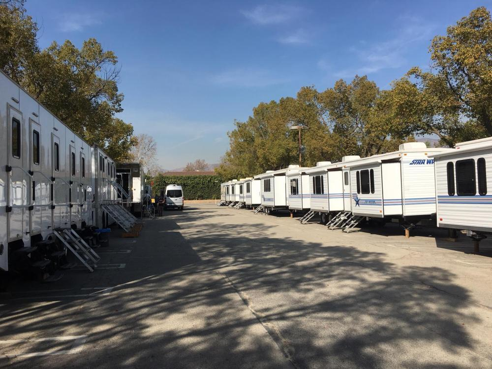 Location shoot Basecamp in 36,000 sq ft lot