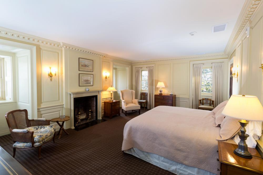 Spend the night in the Lambert Suite in the main manor house