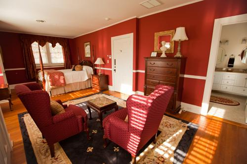 The Churchill Suite is the largest, and has views of three sides of the property