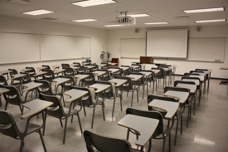 One of many state of the art classrooms that can be used for meetings/breakouts