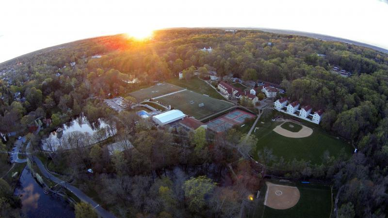 An aerial view of Eastern's beautiful campus