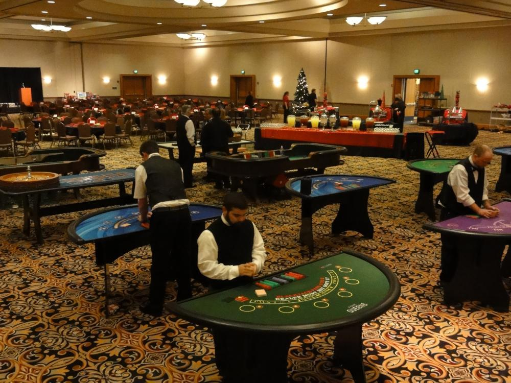 Black Jack Tables with Dealers