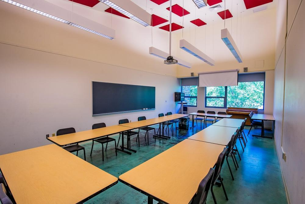 We have over 40 classrooms on campus in a variety of sizes.