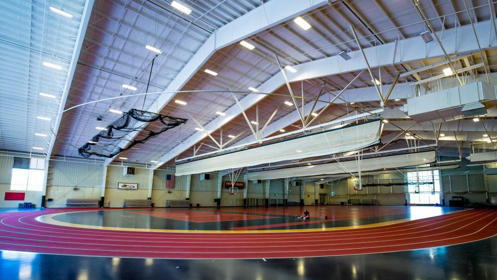 Our 52,00 sq. ft. field house can be used for a variety of athletic events.