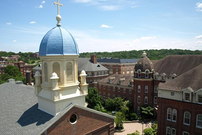Iconic image of the Immaculate Conception Chapel at the University of Dayton