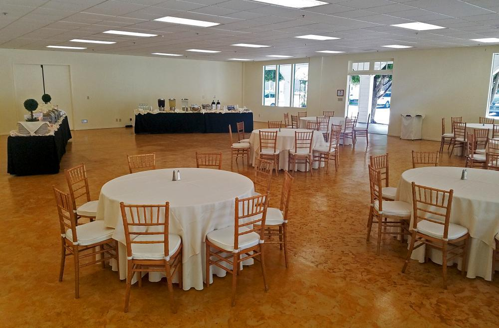 A meeting buffet lunch set-up in The Derby Room