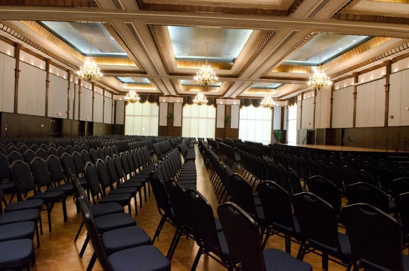 Seating for 900 theater-style located inside of the Grand Ballroom