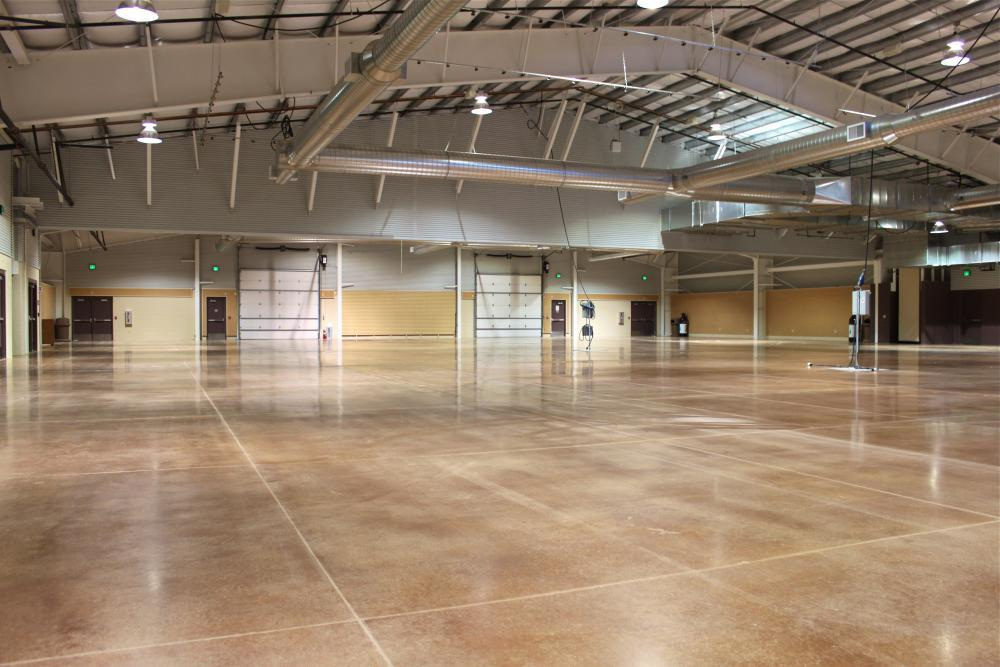 Two halls, each 18,000 sq ft