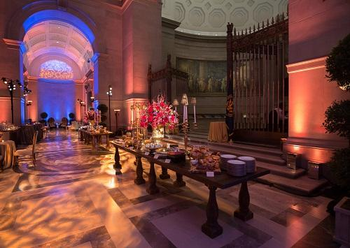 Add lighting and floral design elements to customize the Galleries for your event