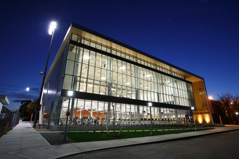 Gassett Fitness center at night