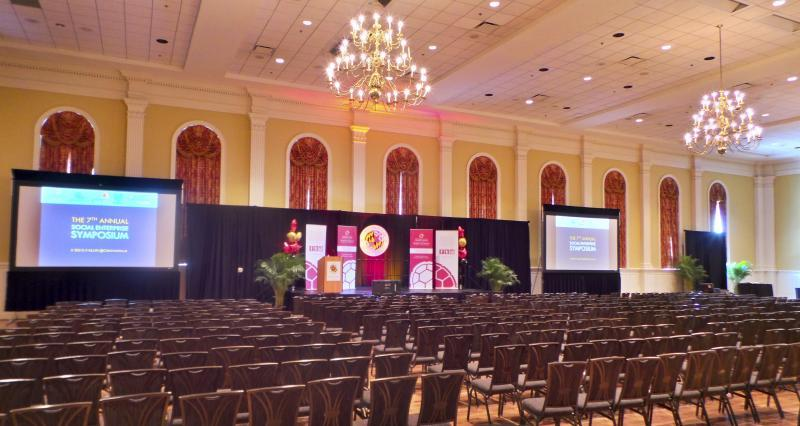 From ballrooms designed to make a big impact on a big audience...