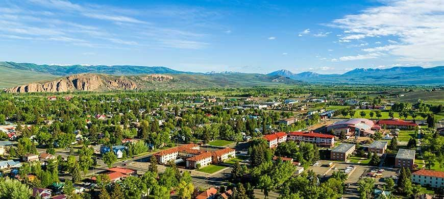 A look over the town of Gunnison