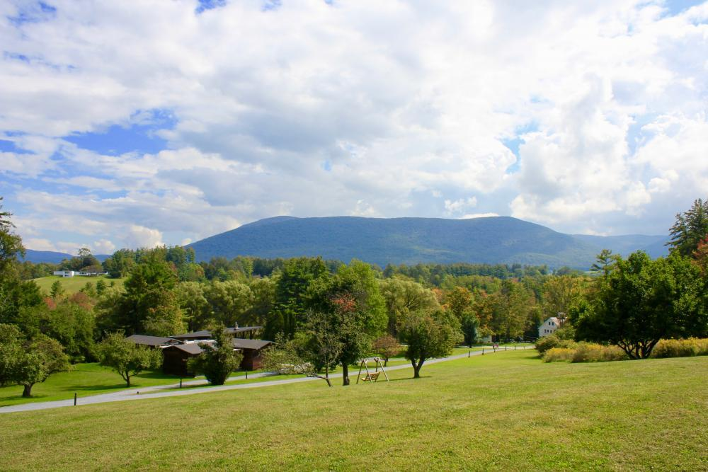 Enjoy mountain views from all over campus.