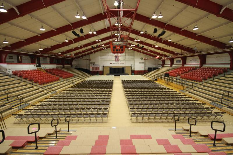 Albright large gathering space with seating for 2,000