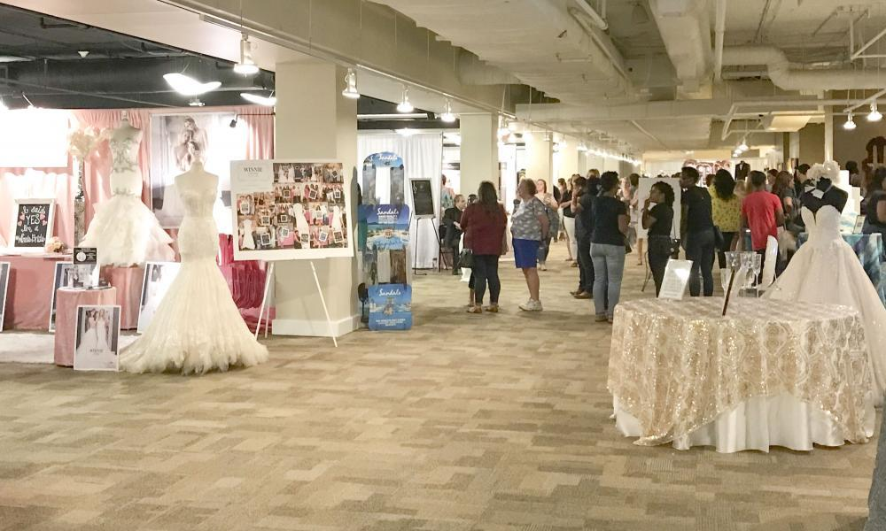 Bridal Extravaganza, a twice yearly bridal show, in Augusta Conference Center