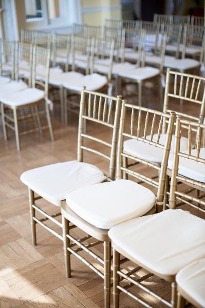 175 gold chivari chairs and a variety of tables included in all rentals!