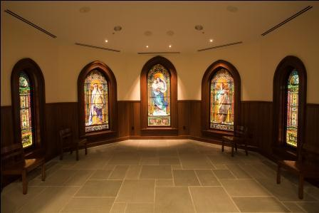 The John LaFarge Stained Glass windows at Our Lady of Mercy Chapel