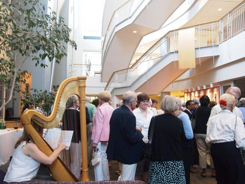 Reception in Kendade Atrium