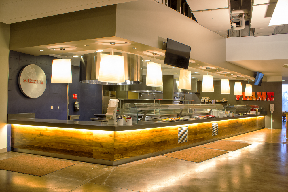 The  Kitchens dining facility for meal plan users.