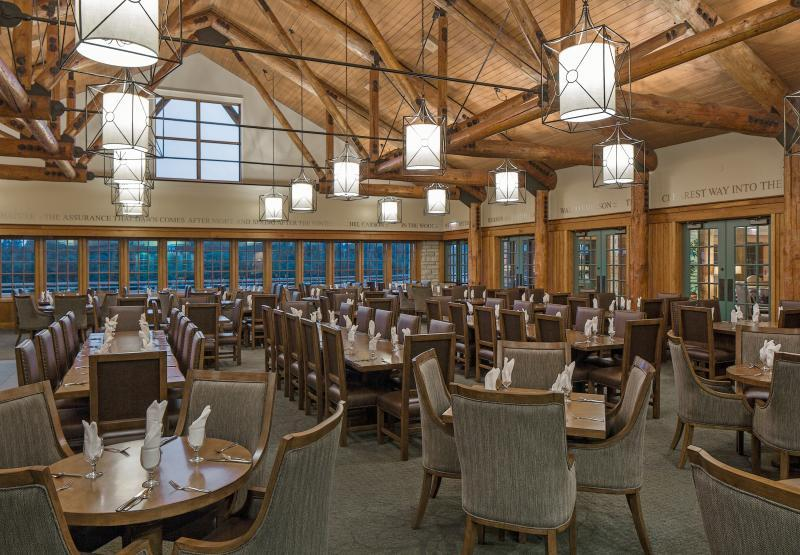 Award Winning Timber Dining Room at Lied Lodge & Conference Center