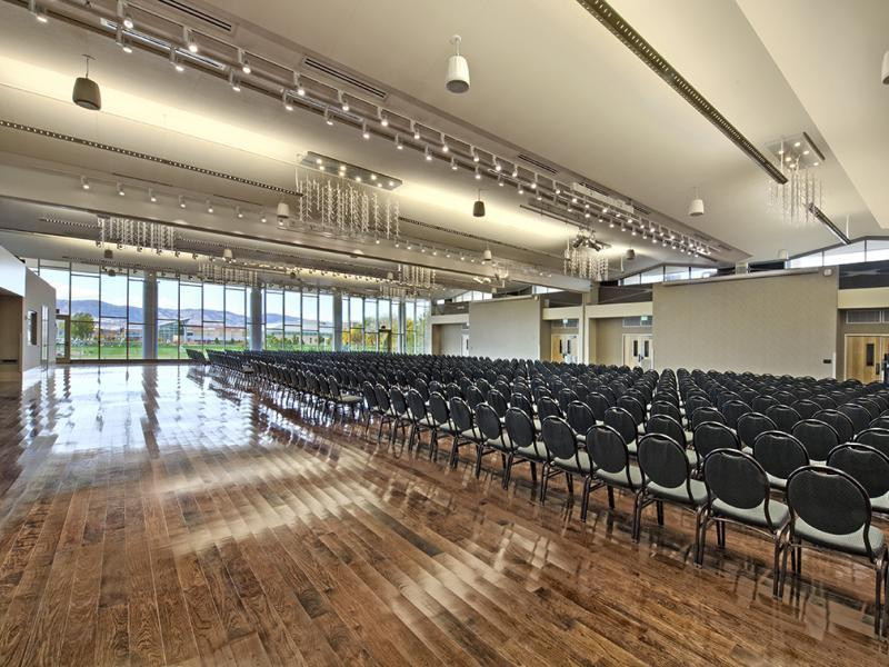 6 ballrooms, The Grand Ballroom can seat up to 1,500 people for one event.