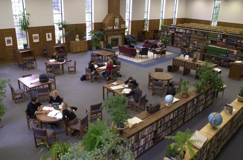 The newly rennovated Swan Library may be configured any way you like.