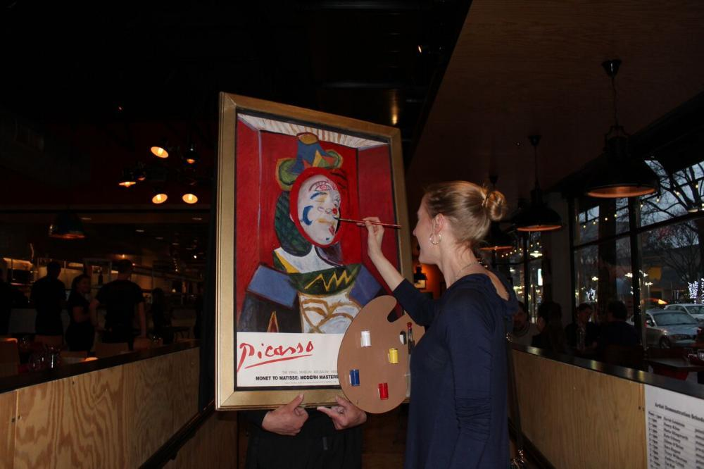 'Living' Picasso performance art at Palette event
