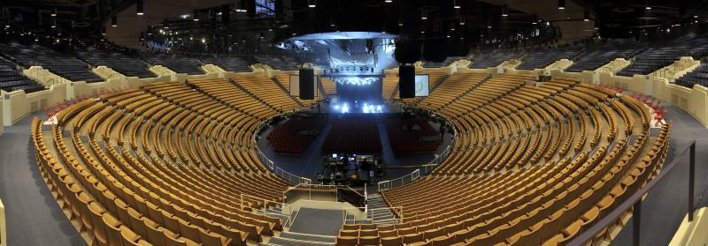 The Mabee Center can accommodate full Arena, end arena or theatre style setups
