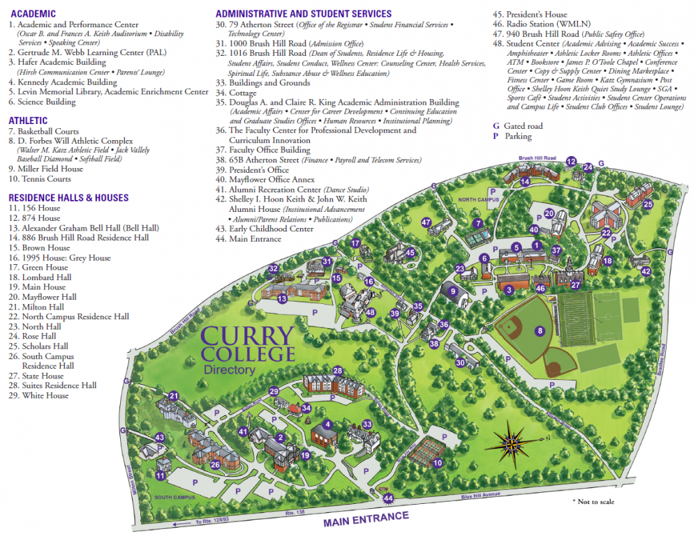 curry college campus map Curry College   Boston Banquet Halls | Unique Venues