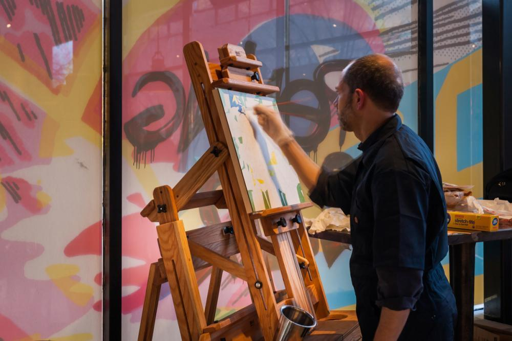 one of our in-house artists at work