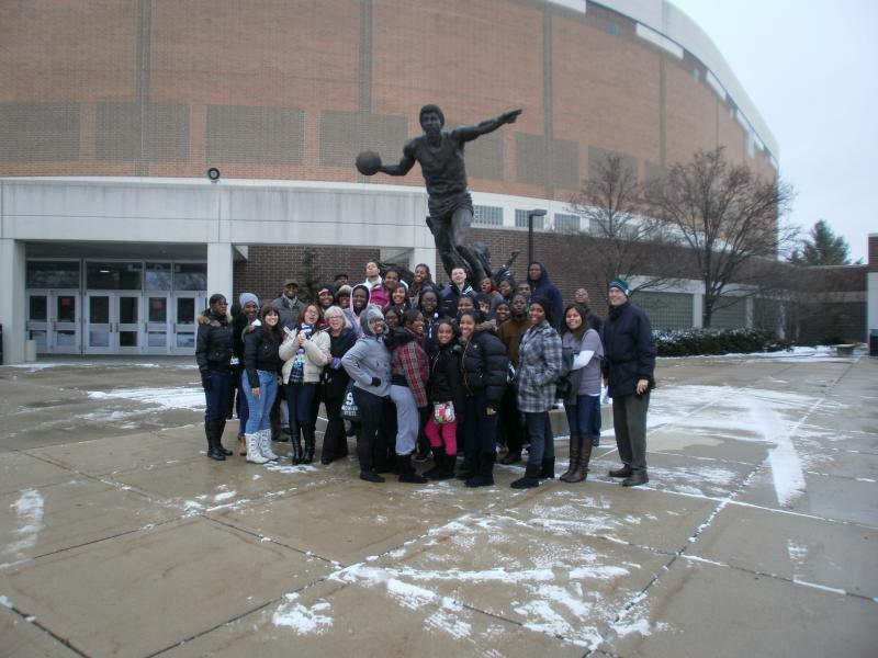 A group making memories at the Breslin Center!