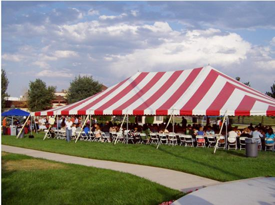 A tent can be setup upon request for either dining or an outdoor conference. The tents seating capacity is 180.