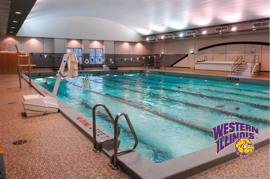 Swimming Pool Located On Campus