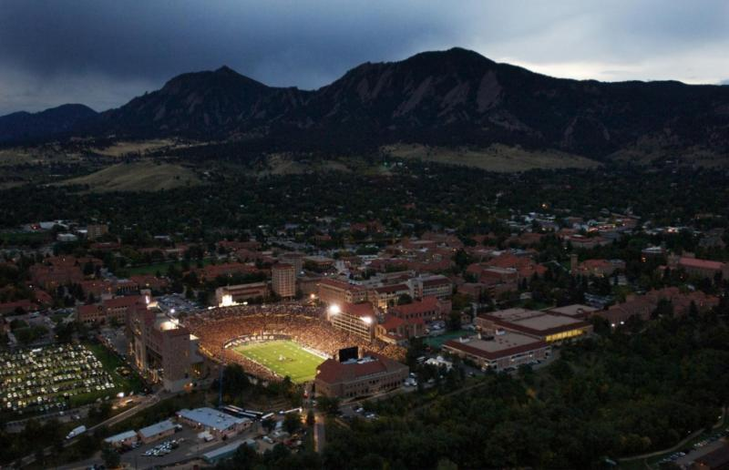 Aerial View of CU Boulder