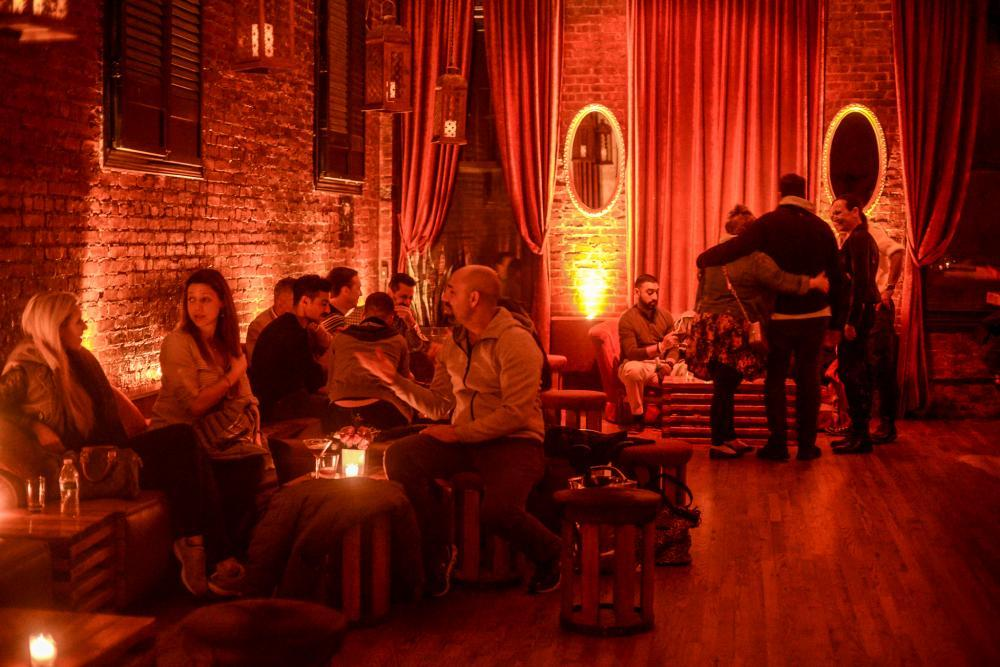 Evening Night Crowd inside the Red Room