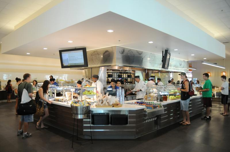 Newly renovated dining commons