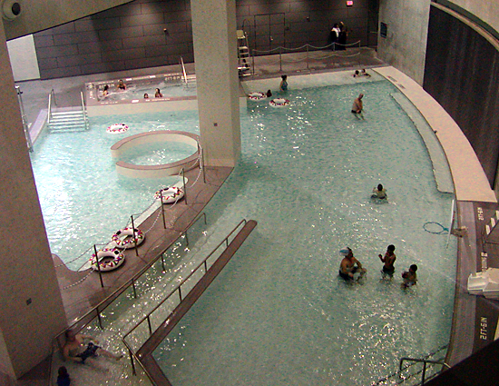 UC's Rec Center: the natatorium boasts a whirlpool, current channel, and a 50-meter X 25-yard lap pool...