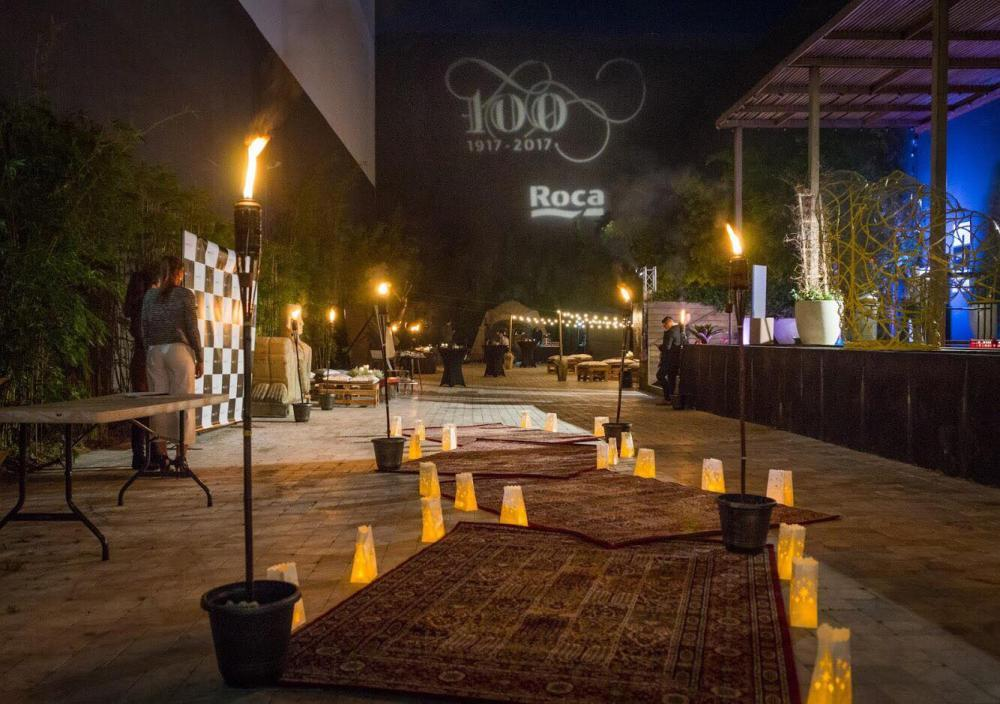 Event outdoor area at night