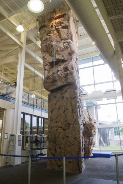 Rock Wall in Wellness Center