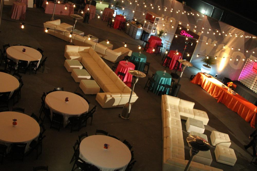 Starlit Rooftop Terrace Lounge
