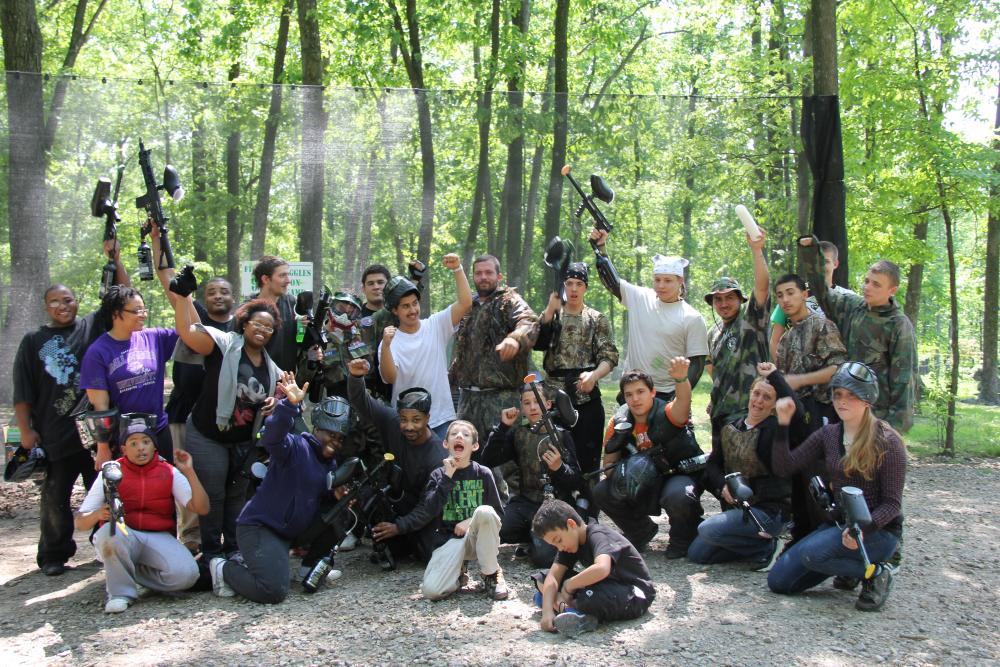 Challenge your team to a competition with 11 themed Paintball fields.