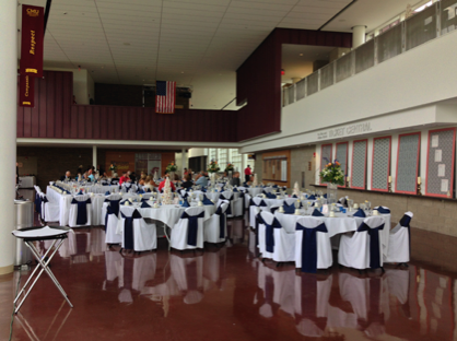 CMU Events Center Atrium set up for a wedding