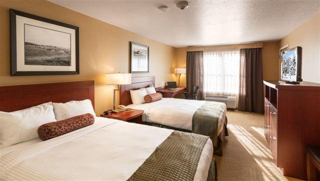 180 beautiful sleeping rooms, right on campus!