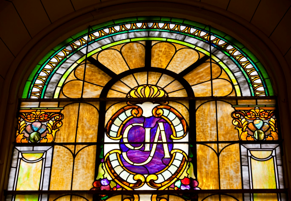 Stained Glass in Farquharson Hall, Roth Hall