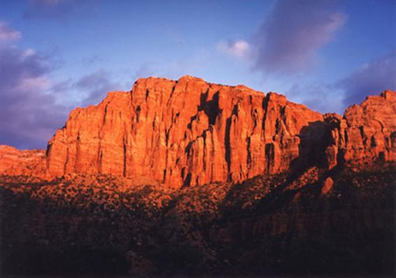 SUNSET ON THE WATCHMAN/ZION NATIONAL PARK