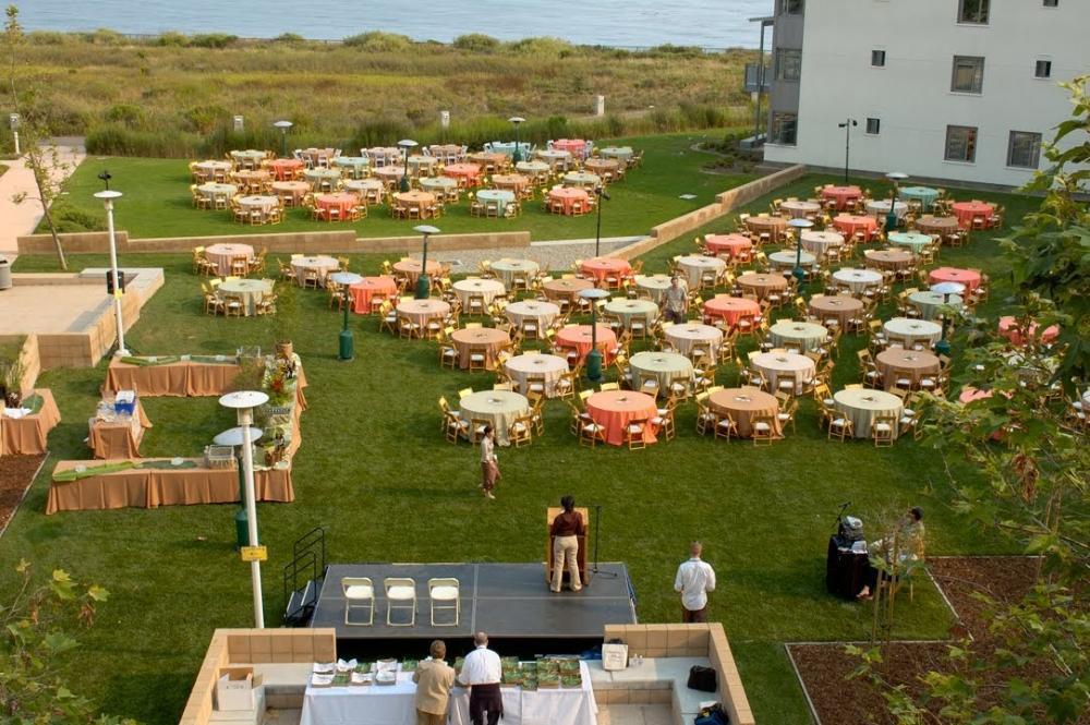 Outdoor Catered Event with Ocean View