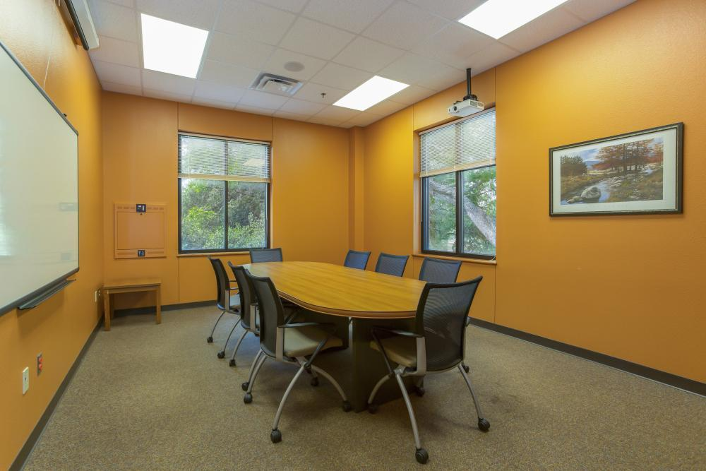 Conference room can serve as conference office or meeting space