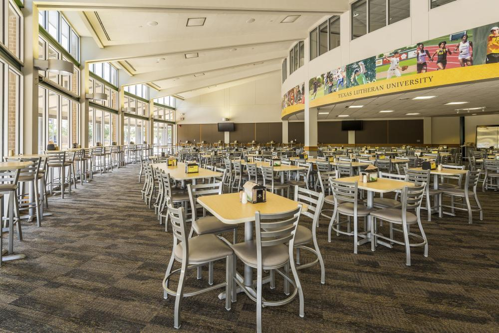 Large dining hall seating up to 300