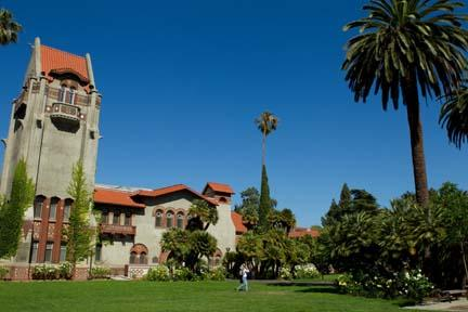 The historic Tower Hall at the center of SJSU Campus